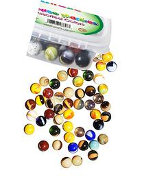 Set Of 100 Peewee Marbles, ½ inch, Assorted Colors, with