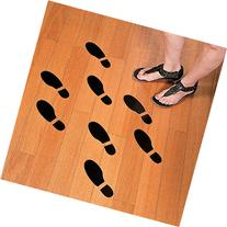 Set of 16 LARGE SHOE FOOTPRINT FLOOR DECAL CLINGS! ~ 16 Foot