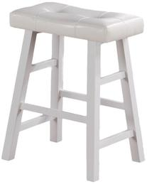 "Set of 2, Country Series Counter Stool - 24""H - in White"