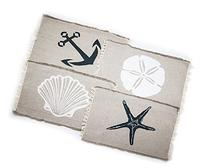 Living Fashions Table Placemats Set By 4 Beach Themed