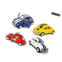 "Set of 4 Cars: 5"" Classic 1967 Volkswagen Beetle with Racing"