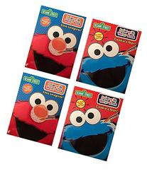 Set of 4 Sesame Street Paint with Water Coloring Book