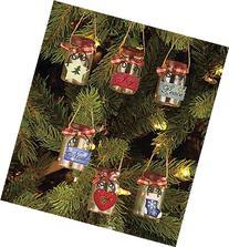 Set of 6 Mini Mason Jar Ornaments