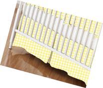 SheetWorld - Crib Skirt  - Pastel Yellow Gingham Woven -