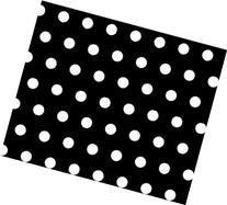 SheetWorld Fitted Pack N Play  Sheet - Polka Dots Black -