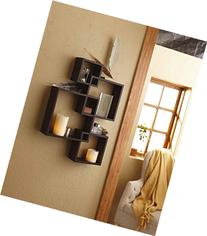 Shelving Solution Intersecting Squares Floating Shelf ,2 LED
