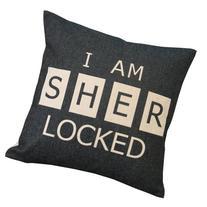 Sherlock I'm Sher Locked Throw Pillow Case Decor Cushion