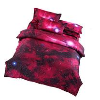 Universe space nebula galaxy pattern twin duvet covers and