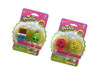 Shopkins 2-Pack Puzzle Erasers Toy Figure Set of 4 Erasers