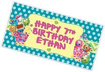 Shopkins Birthday Banner Personalized Party Backdrop
