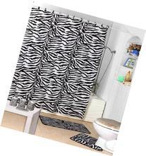 Shower Curtain Kids Jungle Safari Black Zebra Design with