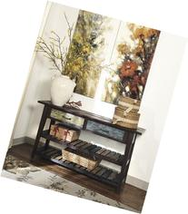 Signature Design by Ashley Mestler Rustic Brown Sofa Table