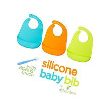 Silicone Baby Feeding Bibs with Food Catcher Pocket - Unisex