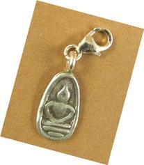 Silver Buddha clip-on charm. Thai style. Solid fine &