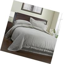Simple&Opulence 100% Linen Duvet Cover Set 3 Piece White and