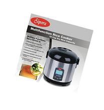 Sipora 158-105 10 Cup Multi-Function Programable Rice Cooker