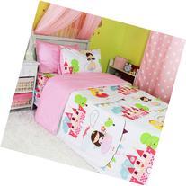 Sisbay Kids Bed Set Child Bedding Cotton Princess Girl