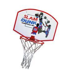 "Slam Dunk Indoor/Outdoor Basketball Hoop Set - 19"" Wood"