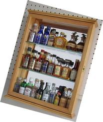 Small Wall Mounted Curio Cabinet Shadow Box, Glass Door,