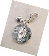 Snow Owl Animal Bird .925 Sterling Silver Charm