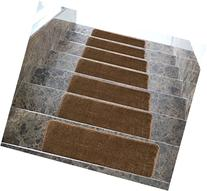 Softy Stair Treads Solid Brown Set of 14 Skid Resistant