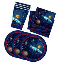 Solar System Outer Space Birthday Party Supplies Set Plates