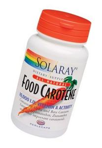 Solaray - Food Carotene, 10000 IU, 100 pearle capsules
