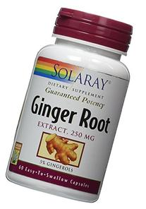 Solaray - Ginger Root Extract, 250 mg, 60 capsules