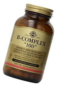 "Solgar B-Complex ""100"", Energy Metabolism, Non-GMO, 100"