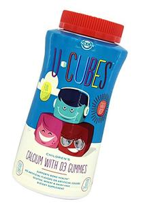 Solgar U-Cubes Children's Calcium with D3 Gummies, 120 Count