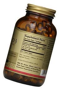 Solgar, Vitamin D3  400 IU, 250 Softgels