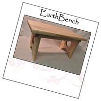 Solid Pine Personal Child's Stool or Bench By EarthBench -