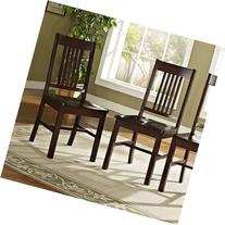 Solid Wood Cappuccino Dining Chairs, Set of 2