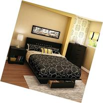 South Shore Trinity Full Queen 4 Piece Bedroom Set in Pure