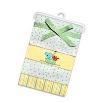 SpaSilk Unisex Baby 4 Pack 100% Cotton Flannel Receiving