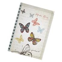 Spiralbound Journal Butterflies 2 Cor 5:17 Lg