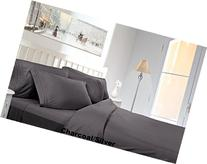 Clara Clark 1800 TC King Split Bed Sheet Set - Silver