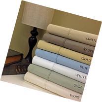 Split-King: Adjustable King Size Taupe Cotton-Poly-Blend,