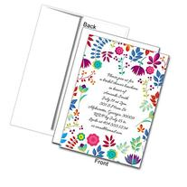 Spring Floral Personalized Custom Invitations, 25ct - Great