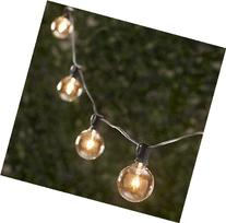 Spring Rose 25 Clear Patio String Globe Lights With Black