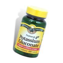 Spring Valley - Potassium Gluconate 595 mg  , 100 Caplets