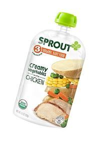 Sprout Organic Baby Food Stage 3 Pouches, Creamy Vegetables