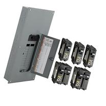 Breakers, Load Centers & Fuses Plug-on Neutral Ready Square D by Schneider Electric HOM2040M200PCVP Homeline 200-Amp 20-Space 40-Circuit Indoor Main Breaker Load Center Value Pack