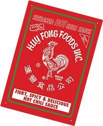 Aquarius Sriracha Tin Sign