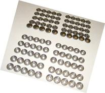 Stainless Steel Snap Fastener's, 50 Piece, Cap & Socket Only