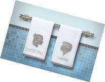 Star Wars Han and Leia Bathroom Hand Towels