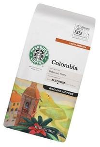 Starbucks Medium Roast, Columbia, Ground, 12 oz