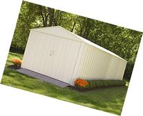 Steel Storage Shed 10 x 25 Ft. High Gable Galvanized,