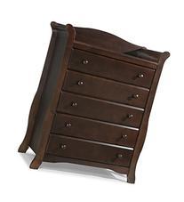 Stork Craft Avalon 5 Drawer Universal Dresser, Espresso