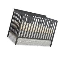 Stork Craft Mission Ridge Fixed Side Convertible Crib, Gray